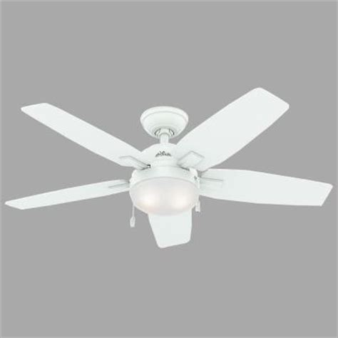 hunter antero fan 54 hunter antero 46 in fresh white indoor ceiling fan 59179