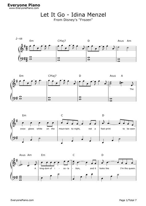 free printable sheet music let it go let it go piano sheet music pdf download 1000 images