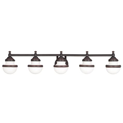 5 Light Bathroom Vanity Fixture Livex Lighting 5715 Oldwick 5 Light Bathroom Vanity Fixture Shown In Olde Bronze