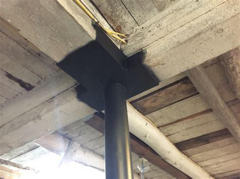 basement support post basement support post installation cornerstone restoration palmyra wi