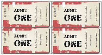 Print Your Own Tickets Template by Doc 600253 Make Your Own Concert Tickets Concert