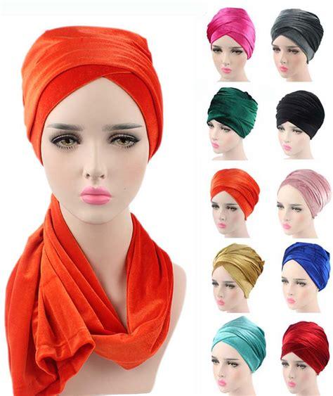 Kerudung Segi Empat Velvet 6 new fashion luxury pleated velvet turban wrap indian headwrap