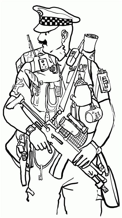Free Printable Coloring Pages Policeman Az Coloring Pages Coloring Pages Of Officers