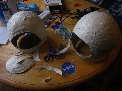 How To Make A Paper Mache Helmet - whispers and shouts how to make space shuttle and