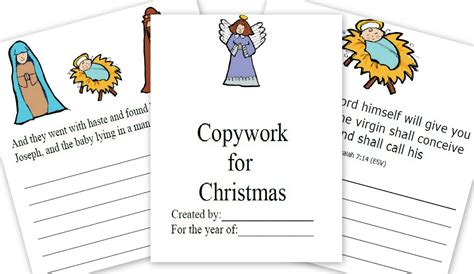printable version of the nativity story the christmas story free printable for copywork great for