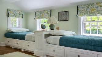 cool twin bedroom design with double bed for teenage room