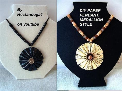 How To Make A Paper Necklace - paper jewelry medallion pendant 183 how to make a