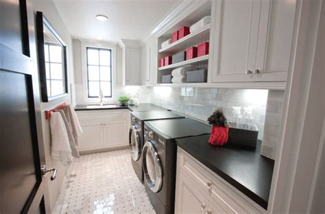 black  white laundry room design ideas home design