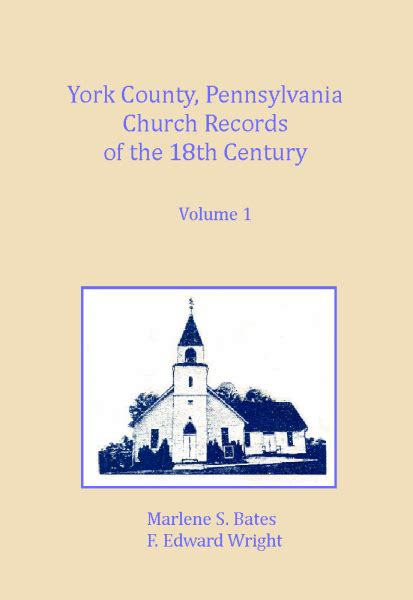 York Pa Records Pennsylvania York County Pennsylvania Church Records Of The 18th Century Vol 1