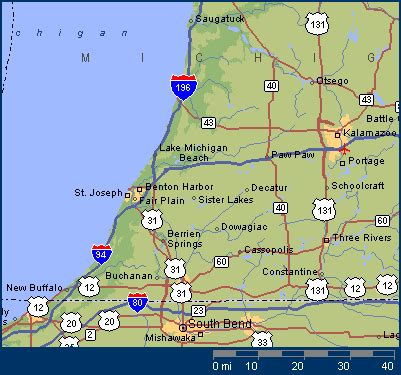 Kalamazoo County Divorce Records Kalamazoo Michigan Map