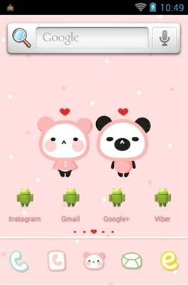 themes love android pink love android theme for dodol launcher androidlooks com