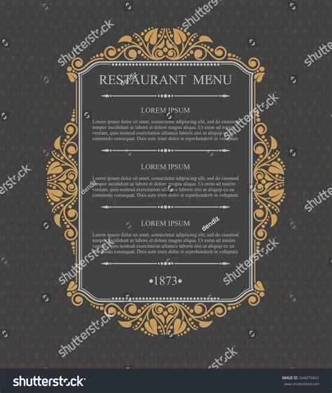 menu design elements retro restaurant menu typographic design elements stock