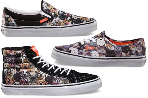 sneakers with cats on them vans x aspca sneaker collection cat and print sneakers