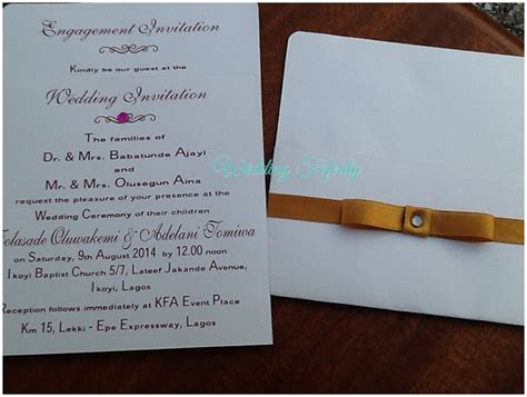 Wedding Invitation Nigeria by Sle Wedding Invitation Cards Image Collections