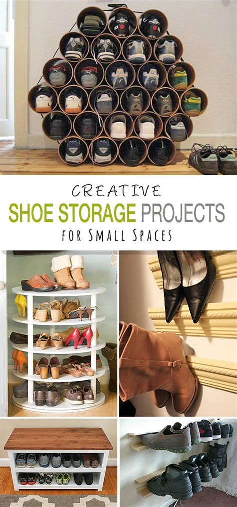 diy shoe storage for small spaces shoe storage diy projects for small spaces decorating