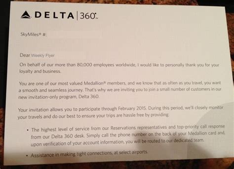 Here?s What Delta?s 360 Letter To Elite Members Looks Like   Points Miles & Martinis