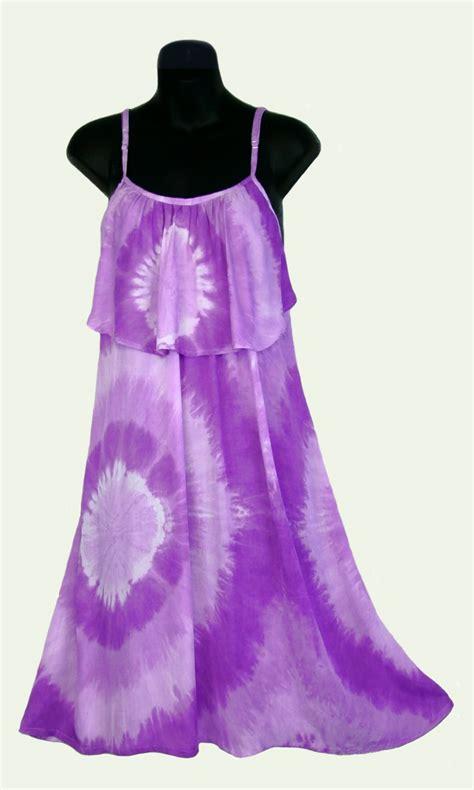 sarongsetc tie dye big ruffle sun dress with