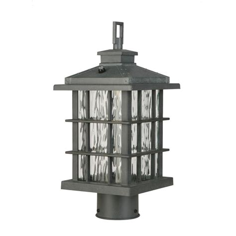 Home Decorators Collection Lighting by Home Decorators Collection Zinc Outdoor Integrated Led Post Light Cqh1801l The Home Depot