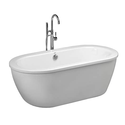 bathtub american standard american standard 66 in x 32 in clean white oval skirted bathtub with back center