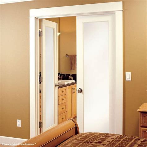 Feather River Doors 28 In X 80 In Privacy Smooth 1 Lite Feather River Interior Doors