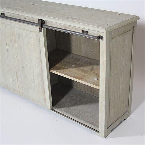 meuble bas cuisine porte coulissante buffet bas authentiq tiroirs et porte coulissante
