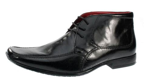 bevern mens lace formal leather boots square toe