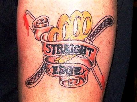 straight edge tattoo edge by justicetattoos on deviantart