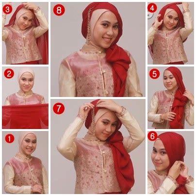 tutorial jilbab pesta untuk kebaya panduan cara memakai jilbab pesta untuk kebaya terbaru 2014