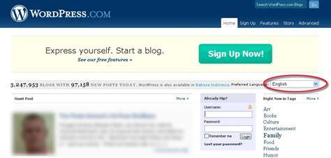 membuat wordpress bahasa indonesia membuat blog di wordpress com chapter 1 budi kurniawan