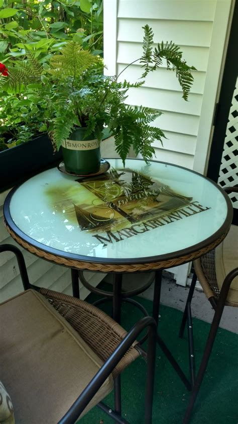 outdoor margaritaville pub table   chairs  sale