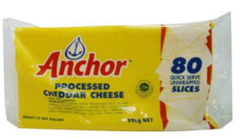 Anchor Processed Cheddar Cheese 84 Slices anc proc ple sos 10x1040g zurich distribution