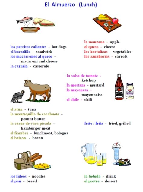 printable spanish recipes printable spanish freebie of the day 25 page food in