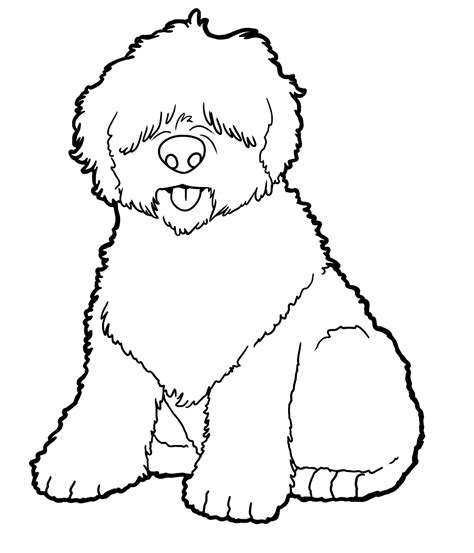 sheep dog coloring page old english sheepdog by candybeelinearts on deviantart