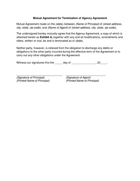 Letter Of Agreement Investment 11 best images of sle of agreement
