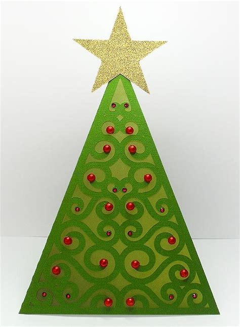triangle christmas tree card