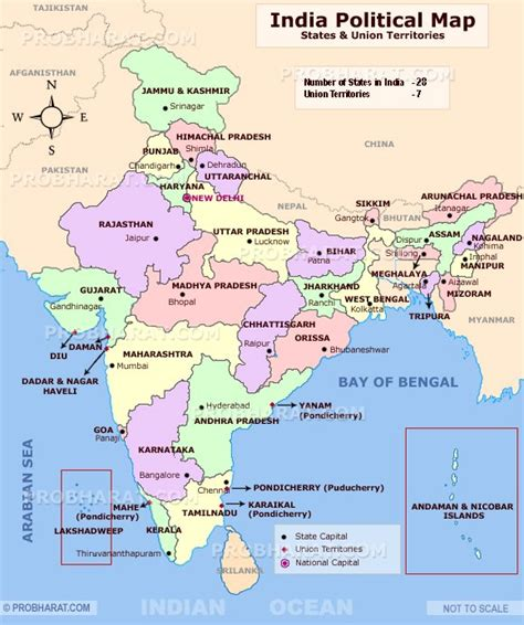 India Political Map Outline With States by Indian States About The States Of India India States Union Territories