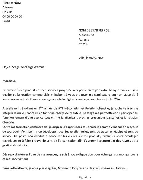 Stage Tourisme Lettre De Motivation Lettre De Motivation Stage Lycee Professionnel Document