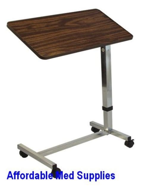 hospital bed table hospital overbed over bed tilt top table computer tray 59 99