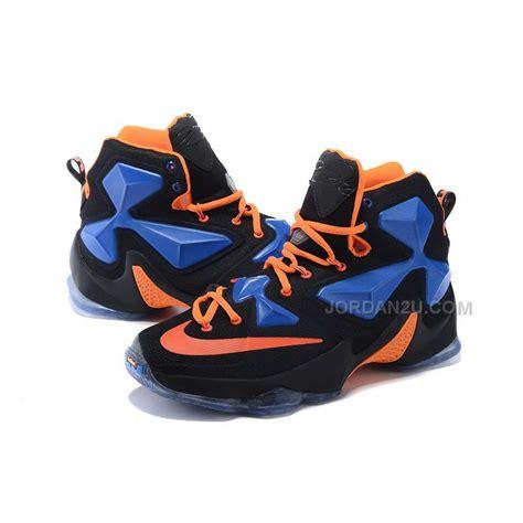 Produk Baru Nike Lebron 13 Black Blue nike lebron 13 black royal blue orange for sale price