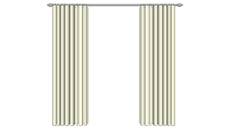 heat retaining curtains sketchup 3d model window curtains 2