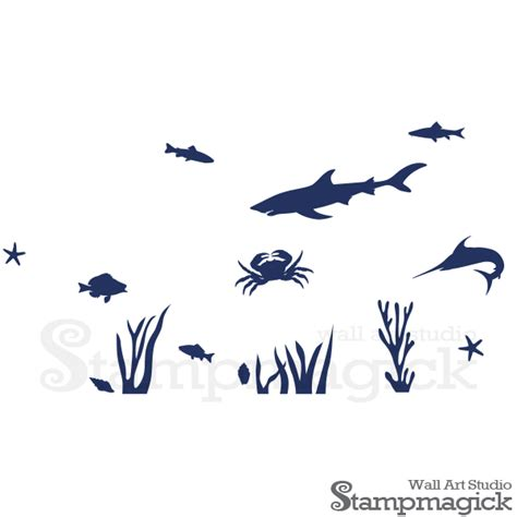 the sea nursery wall decal k239 stmagick wall