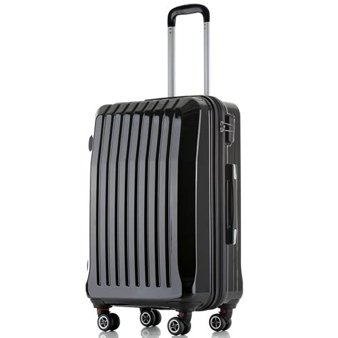 dresser on wheels suitcase hard shell abs trolley case 4 spinner wheels suitcase