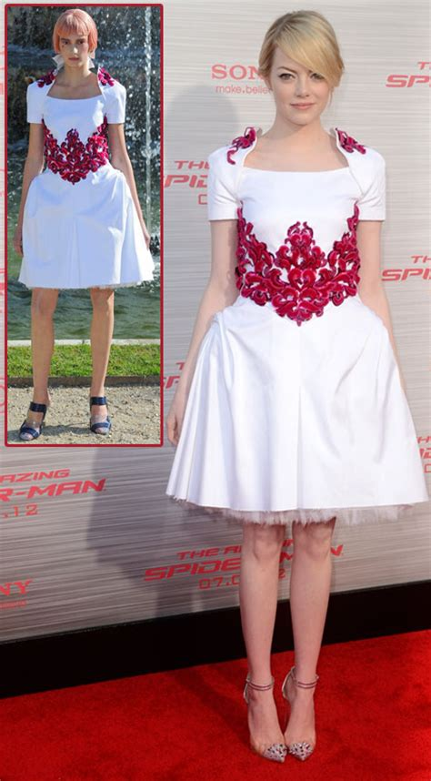 emma stone white dress emma stone spider man premiere in lovely in chanel resort