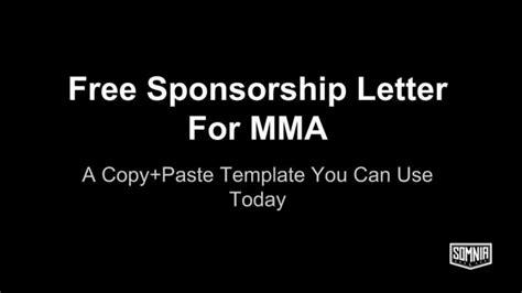 Fighter Sponsorship Template Sponsorship Letter For Mma Youtube