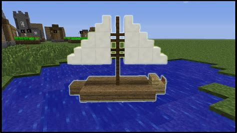 how to make a lego minecraft boat minecraft tutorial how to make a sail boat youtube