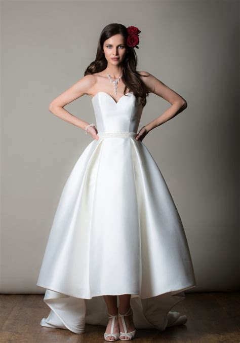marsaille rita mae short wedding dress bridal tea length