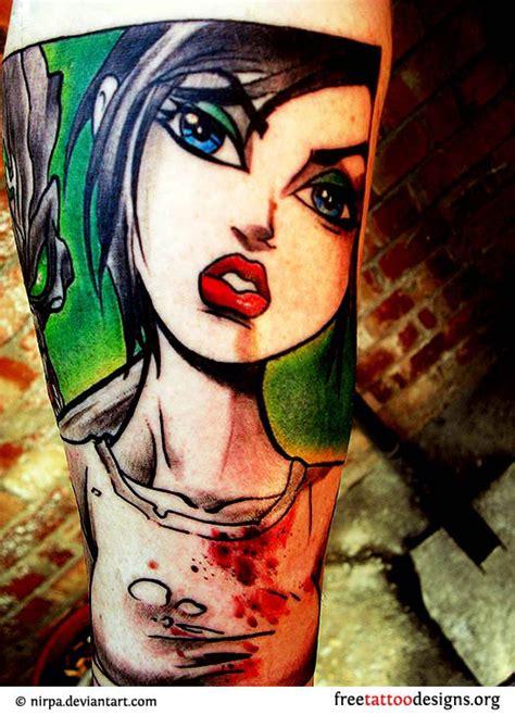 cartoon tattoo for girl unique tattoo gallery 100 designs