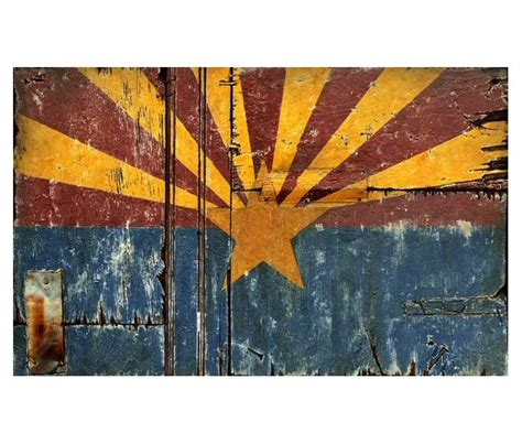 arizona woodworking large arizona flag vintage style wooden sign antique