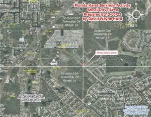 florida sinkhole map 2012 area map shoal drive sinkhole hudson pasco county florida