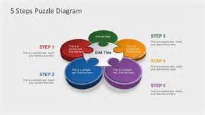 powerpoint diagram templates free free 5 steps puzzle diagram for powerpoint
